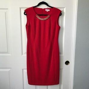 Calvin Klein Ponte Knit sheath dress NWOT